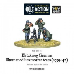 Blitzkreig German 81mm Medium Mortar team