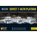T34/76 Medium Tank Platoon (3) with Tank Riders