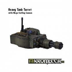 Heavy Tank Turret With Mega Gatling Cannon