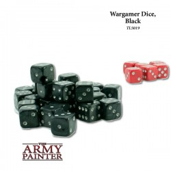 Wargaming Dice - Black with Red
