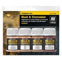 Set de pigmentos: óxido y corrosión